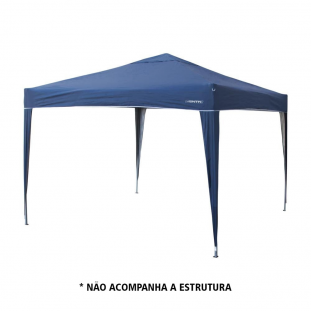 Teto para tenda/gazebo Trixx NTK 3x3m do tipo aluminizado e com proteção solar UV 50+